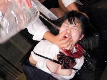 【貧乳JKレイプ】制服姿で拘束した女子高生を連続中出し!エグイ水責めで窒息寸前に追い込む!